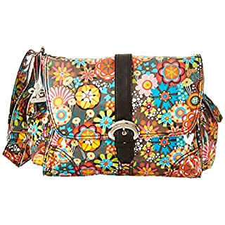 Kalencom Laminated Buckle Bag, Retro Floral