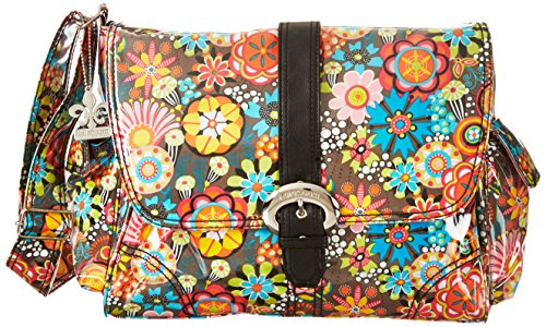 Kalencom Laminated Buckle Bag, Retro Floral by Kalencom