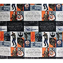 100% Cotton Fabric Quilt Prints Star Wars The Force Awakens Rebels Block Edition Licensed Sold By The Yard N-Cotton-97-OT