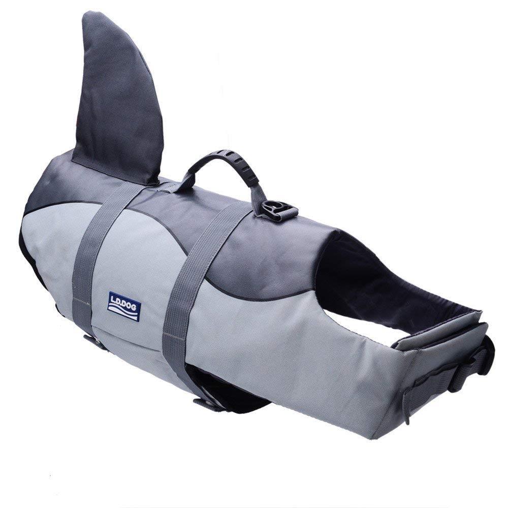 BFLIfe Dog Life Jacket Shark Large Pet Swimming Vest for Dogs