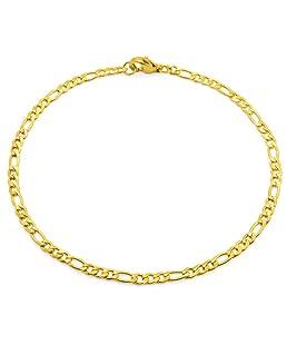 SoulCats® Armband/Armkette aus Edelstahl für Männer in Gold, Größe: 3 mm