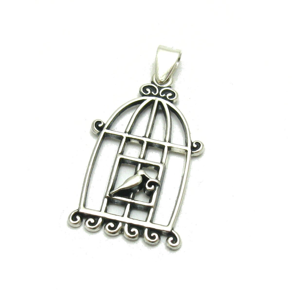 Silber Anhänger Vögel im Käfig 925 Empress jewellery