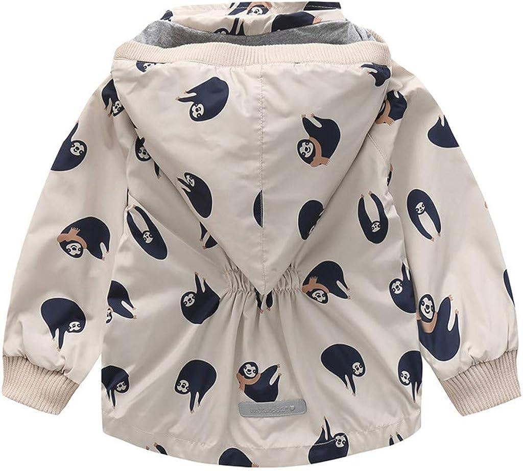 Alwayswin Kinder Baby Jungen M/ädchen Regenjacke Herbst und Winter Warme Jacke mit Kapuze Tasche Windjacke wasserdichte Regenmantel Plus Samt Warme Mantel Outwear Jacken Kinderjacke