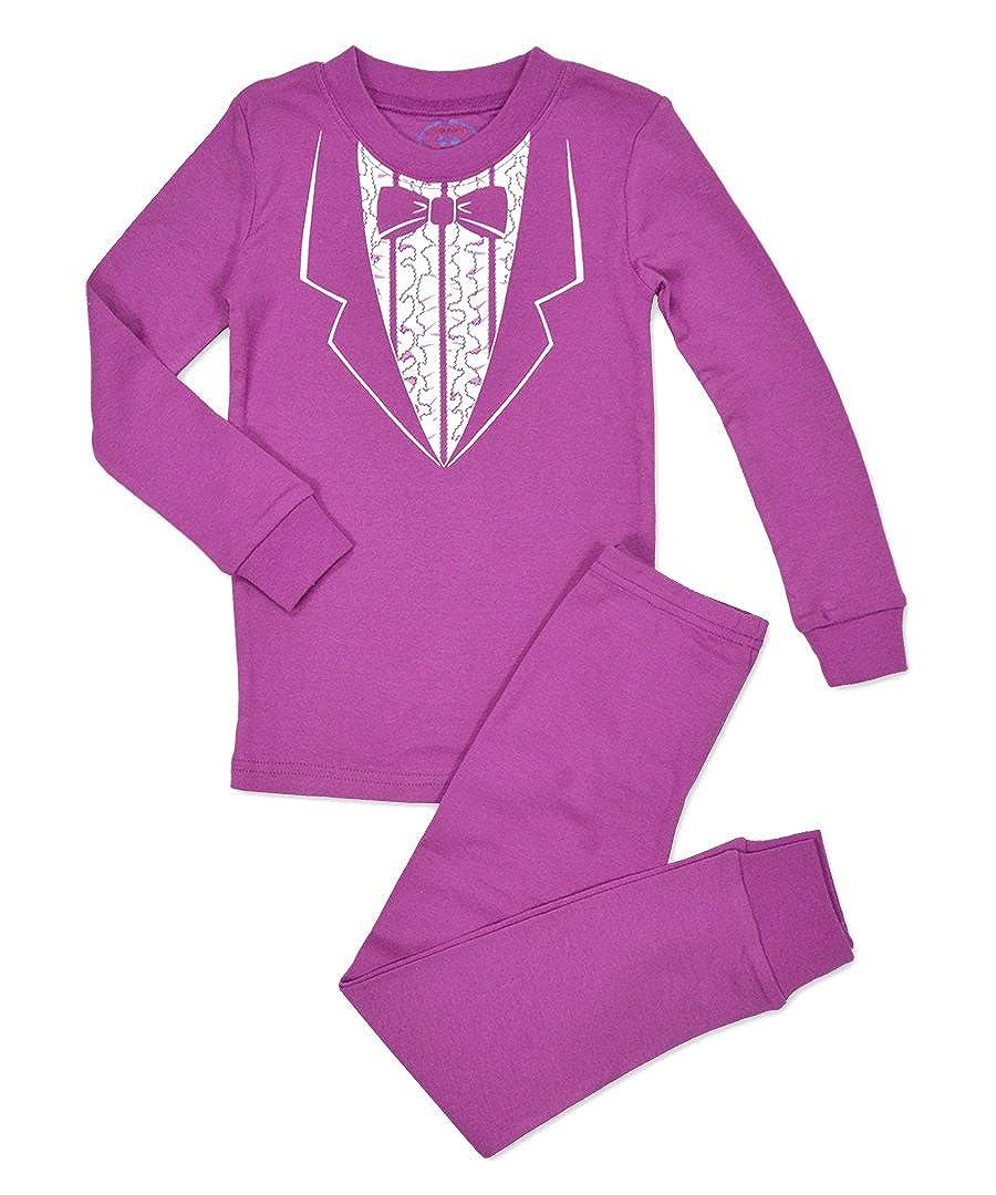 Saras Prints Girls All Cotton Long John Pajama Set