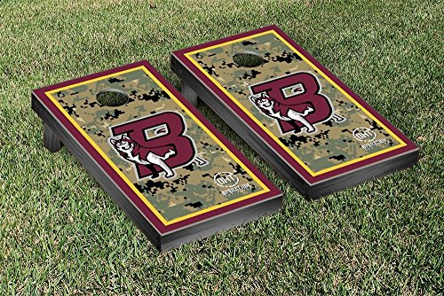 Operation Hat Trick Bloomsburg Univ. BU Huskies Cornhole Set Border Version by Victory Tailgate