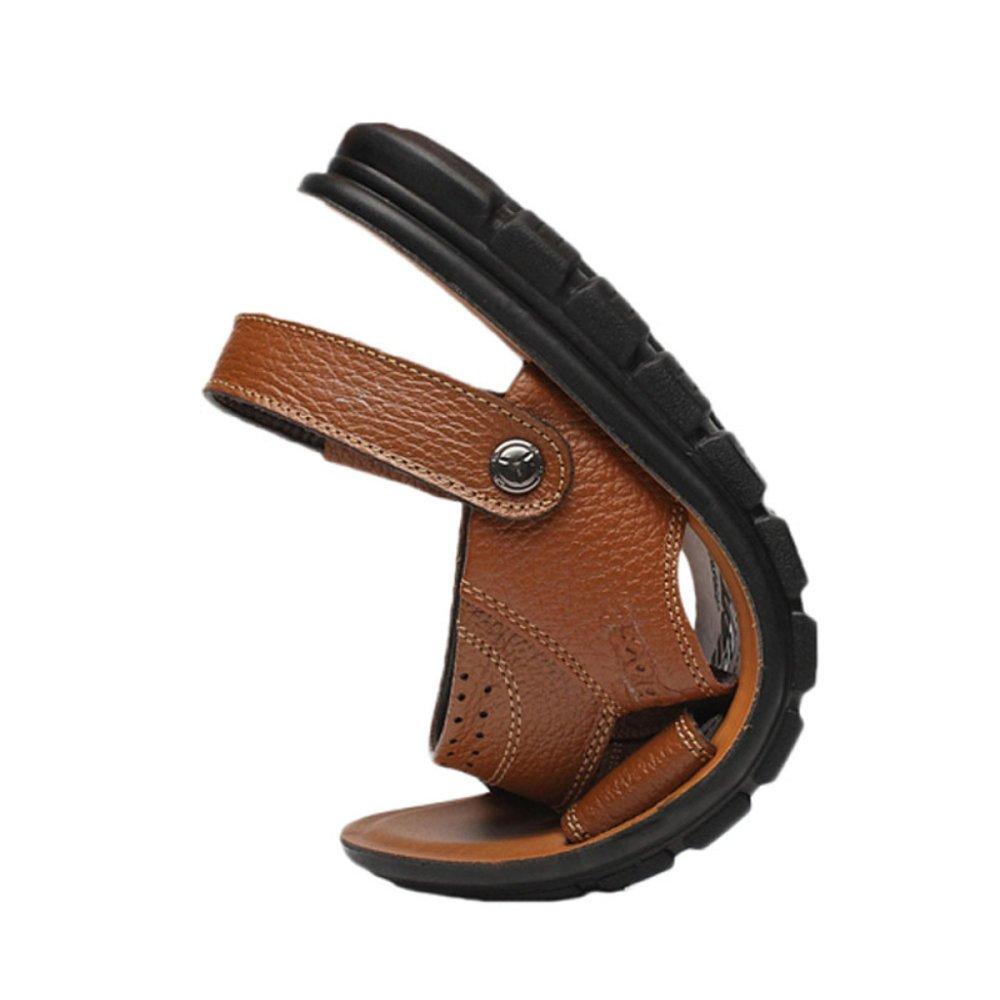 Männer Sommer Sport Sandalen aus Echtem Leder Offene Zehe Outdoor Schuhe Sandalen Wandern Schuhe Strand Schuhe Outdoor B 54aa92