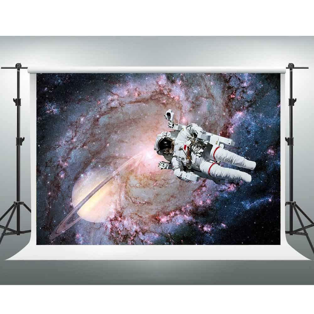 GESEN 銀河背景 10x7フィート 科学エクスペディション 宇宙飛行士 写真背景 ゲームライブ背景 室内壁画 XCGE778   B07L83PGRF