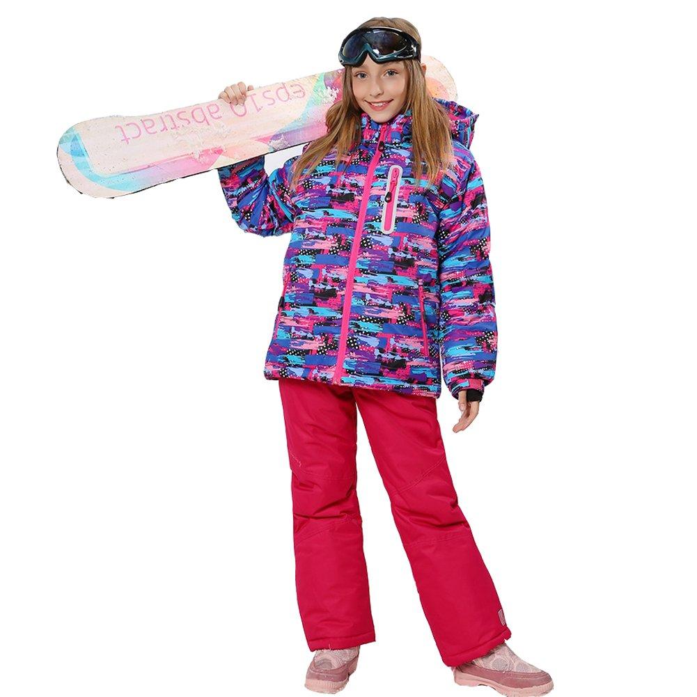 024347ee7 Wonny Girls Ski Jacket Pants Kids Waterproof Winter Skisuit: Amazon.ca:  Clothing & Accessories