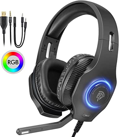 EasySMX S3 Eetéreo Gaming Headset para PS4/ PC/Laptop/Tablet ...