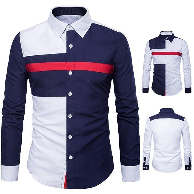 FAMILIZO Camisas Hombre Manga Larga Slim Fit Camisas Hombre Lino Camisas Hombre Originales Baratas Polos Tops