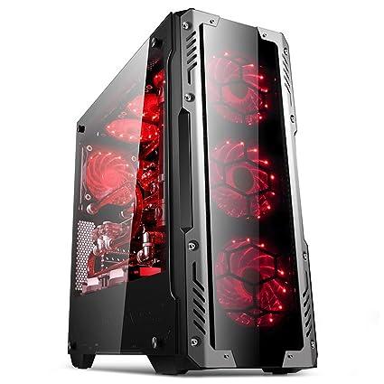 GOLDEN FIELD Z2 ATX/ATX Micro/ITX Mid-Torre Ordenador de la Computadora Caja PC Juego con Vidrio Templado Ventanas Laterales de Cajas de la Computadora de ...