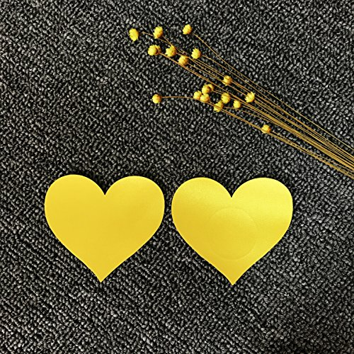 di cuore Czj Nipple Coppie Cover Giallo Copricapezzoli A Monouso Innovation forma 10 qrqBwvzR
