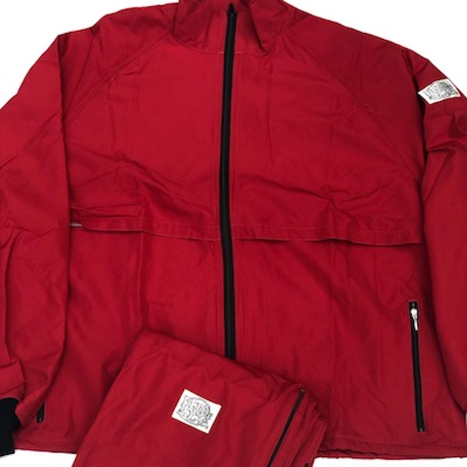 Moss Brown & Co. Bright Colors, 2-Layer Moss-TEX, Waterproof, Breathable, Big & Tall, Track Suits. Chili Pepper Red -3X by Moss Brown & Co.