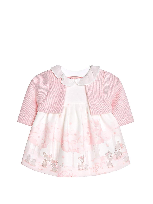 mayoral 18-02806-074 - Robe avec Gilet pour Bébé Fille 1-2 Mois Rose Vigor