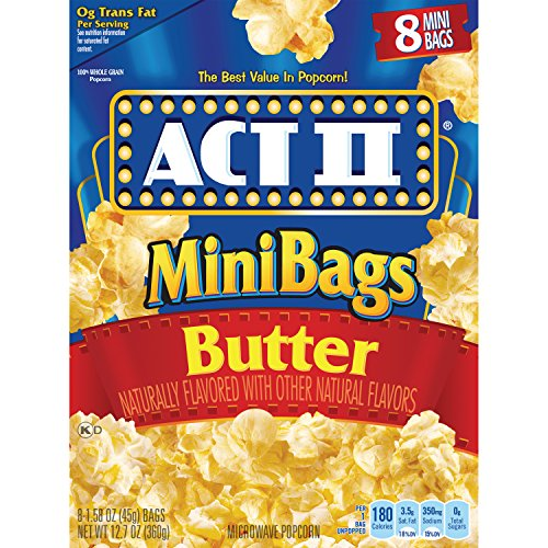 (Act II Popcorn Butter, 8-Count 1.6 oz., Mini-Bags (Pack of 6))