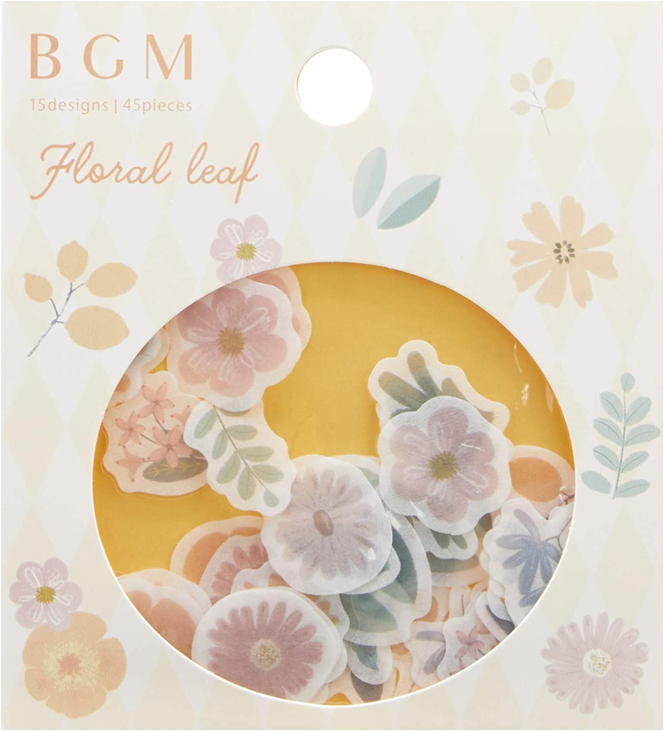 Flake SEAL Foil Stamping Flake Stickers Blossom BGM Washi Tape Material