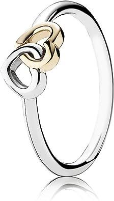 anello pandora cuore giallo