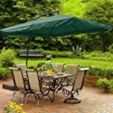 Deluxe 9ft 8-rib Sun Shading Hanging Offset Square Umbrella with Aluminum Pole Review