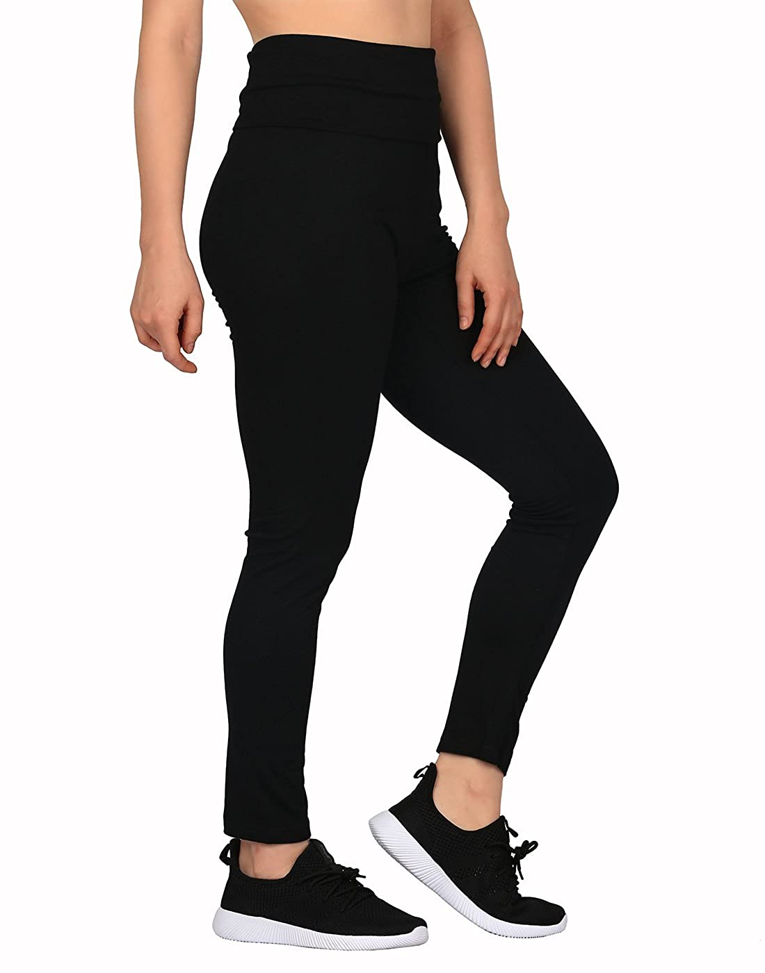 65b311521b1 HDE Women's Maternity Yoga Pants Pregnancy Stretch Fold Over Lounge Leggings  at Amazon Women's Clothing store: