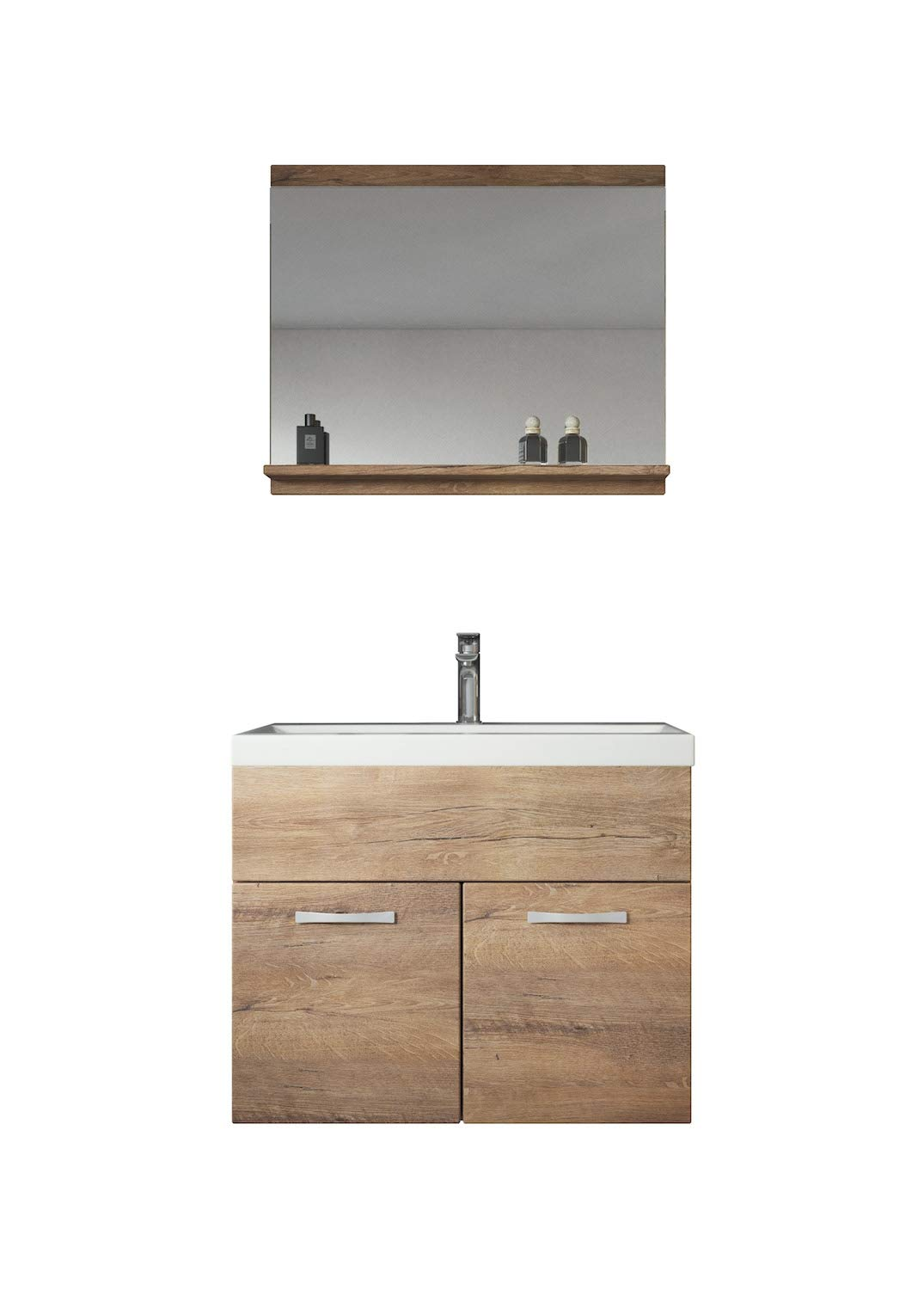 Badplaats Bathroom furniture set Montreal 02 60cm basin Lefkas - Storage cabinet vanity unit sink furniture