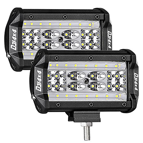 Quad Works Power Box (LED Pods, DJI 4X4 2Pcs 5'' 168W QUAD Row LED Light Bar OSRAM Spot Flood Combo Beam Off road LED Cubes Work Light Driving Fog Lamps for Trucks Jeep ATV UTV SUV Boat Marine, 2 Years Warranty)