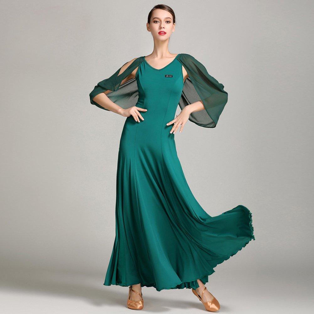 激安特価 現代の女性大きな振り子舞う糸ダンススカートタンゴとワルツダンスドレスダンスコンペティションスカートシフォンフローティングスリーブダンスコスチューム Green B07HHWDK7G Large|Green Large|Green Green B07HHWDK7G Large, あこがれゆめ:e6efc716 --- a0267596.xsph.ru