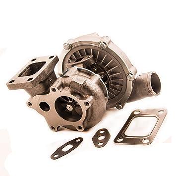 maXpeedingrods Universal Turbo Turbocompresor de Motor T3 T4 T04E .63 A/R .50 A/R Aceite Frío T3 FLANG: Amazon.es: Coche y moto