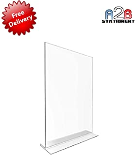 a2b stationery 10 x a4 acrylic poster menu holder t sign portrait to perspex