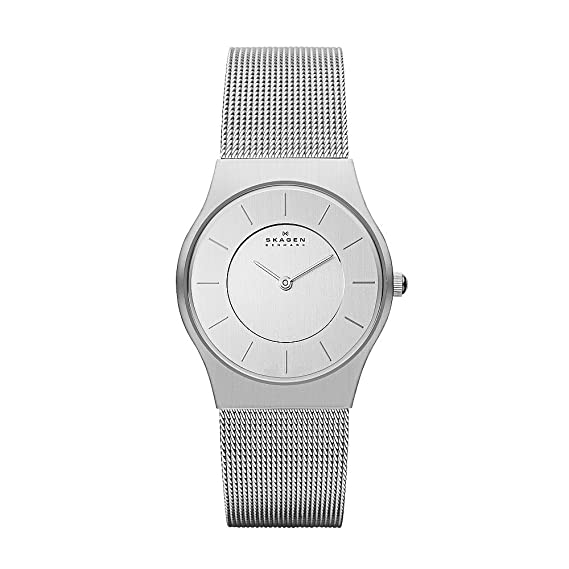 Skagen Slimline 233SSS - Reloj de Mujer de Cuarzo, Correa de Acero ...