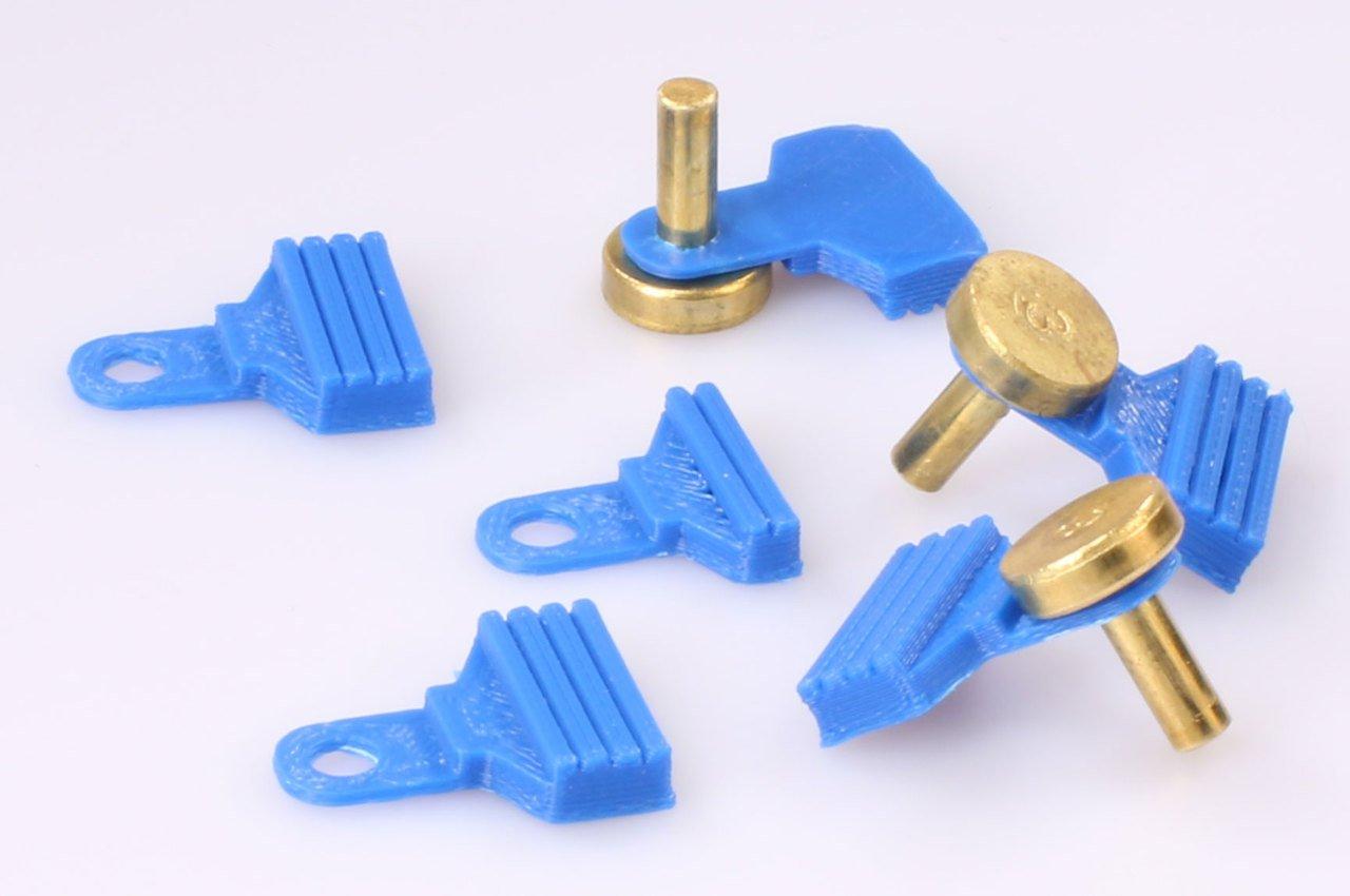 Dillon locator pin plastic catcher , button tabs for Dillon Blue Locator Tabs