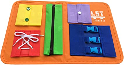 Portable Felt Learning Early Basic Life Dress Sk MOMSIV Busy Board for Toddlers