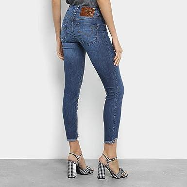63f420ac2 Calça Jeans Cigarrete Colcci Fátima Cintura Média Feminina - Azul - 40