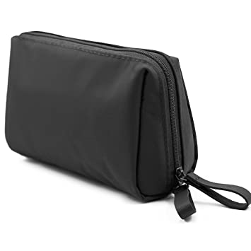 5dce74d34ae8 Amazon.com   Admirable Idea Small Size Makeup Pouch for Womens Travel Cosmetic  Bag for Girls Essential Oil Carrying Bag -black   Beauty