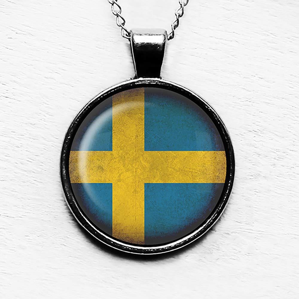 Sweden Gift Wife Gift Sweden Wife Sweden Pendant Sweden Necklace Woman Gift Sweden Jewelry Sweden Charm Sweden Germany Sweden Flag