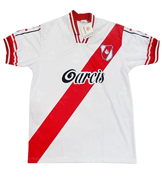 Futbol Argentina Jersey Garcis Model River Plate Color White (X-Large)