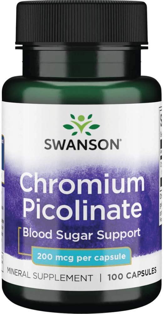 Swanson Chromium Picolinate 200 mcg 100 Capsules