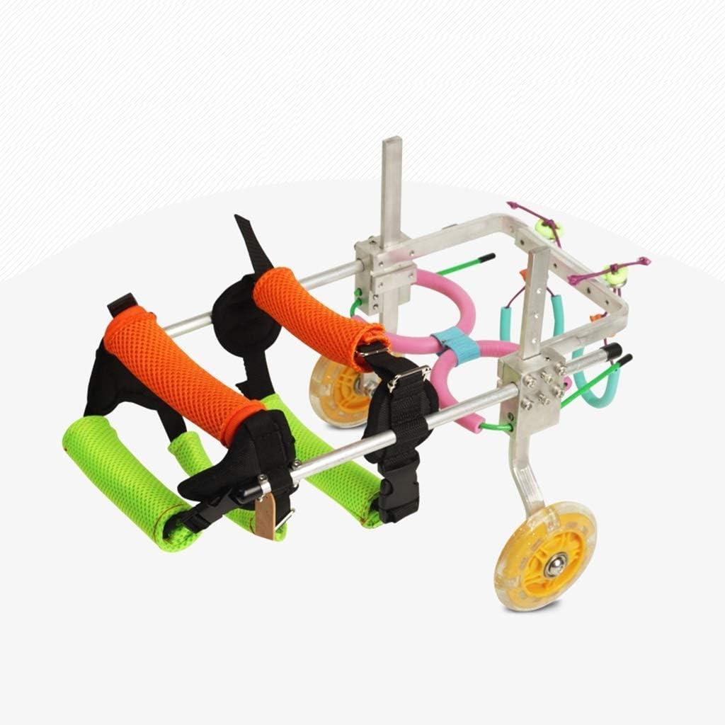 犬の車椅子原付犬くそスクーター障害者後肢運動ペットペットカーシートをアシスト (Size : Small)
