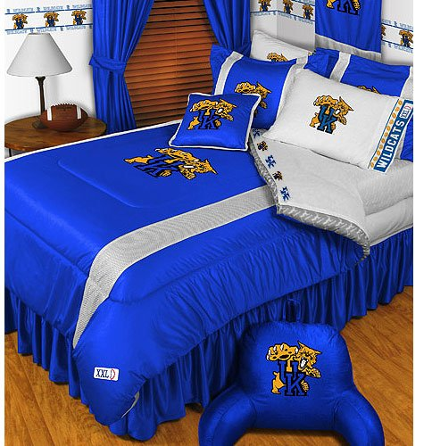Kentucky Wildcats Jersey Comforter (NCAA Kentucky Wildcats - 4pc BEDDING SET - Twin/Single)