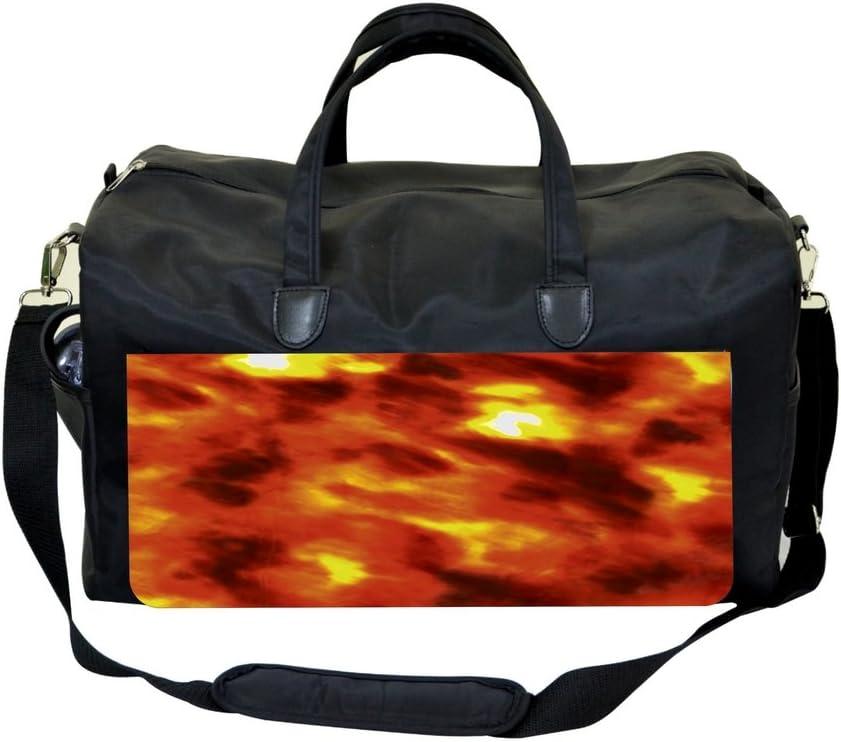 Orange Flames Deisgn Sports Bag