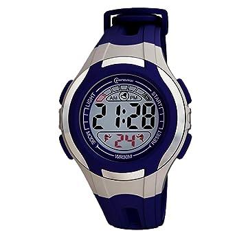 Reloj infantil cuarzo, digital, sport chrono alarma, impermeable: Amazon.es: Relojes