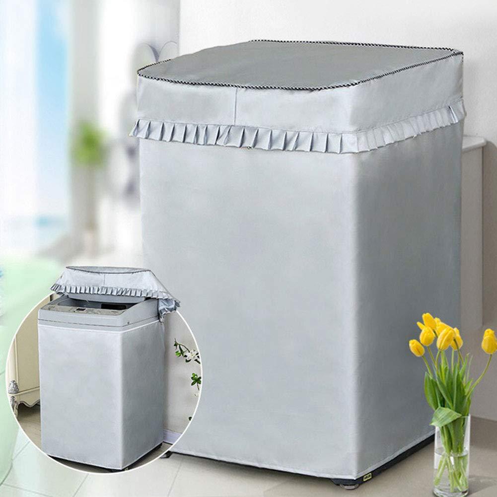 Cubierta Protectora contra el Polvo Bclaer72 Funda para Lavadora Show Impermeable Small Protector Solar con Cremalleras para Lavadora de Carga Superior Revestimiento de Plata