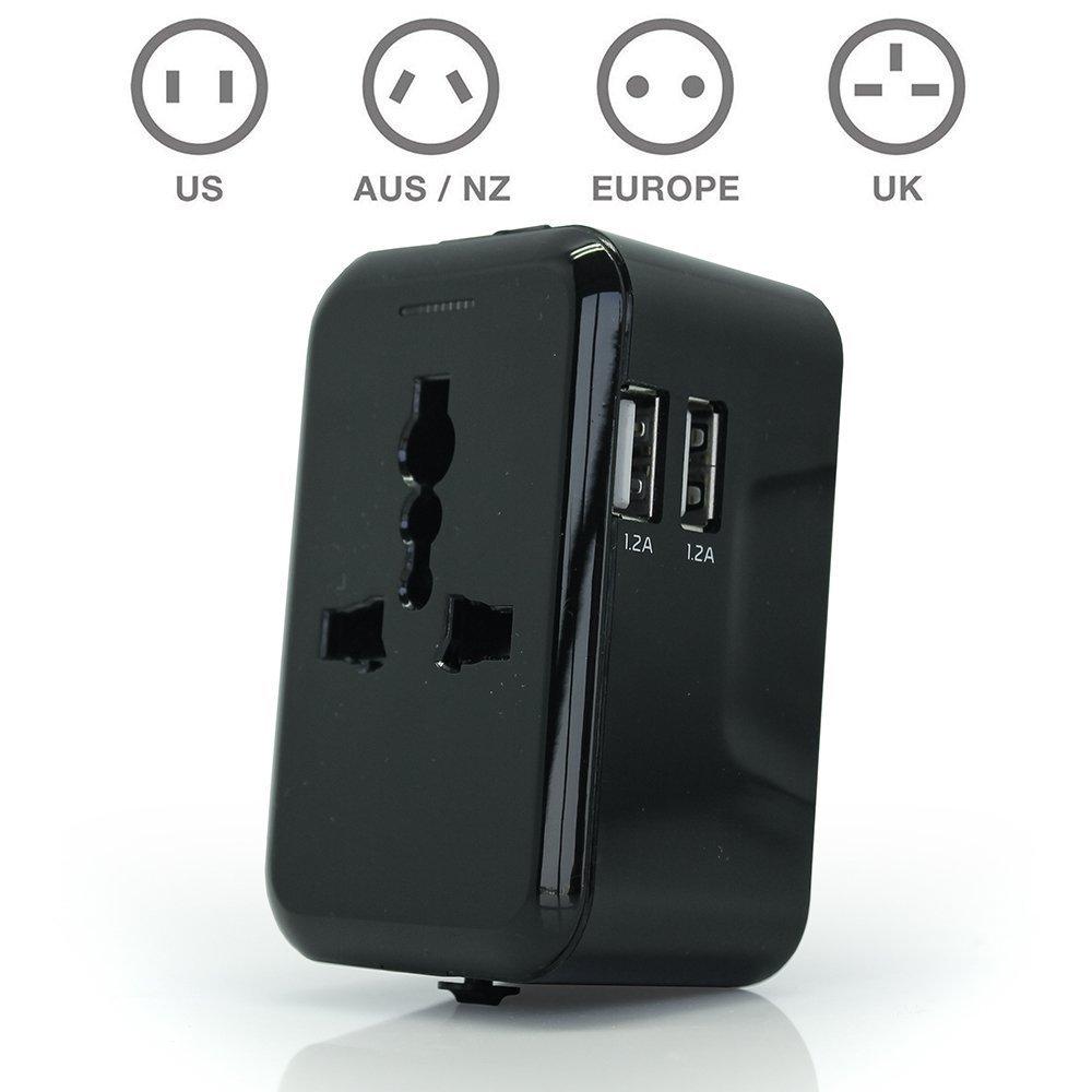 Ba adaptateur secteur universel de voyage tout en un - Adaptateur electrique usa europe ...