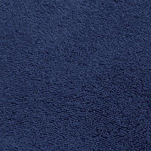 DECOLICIOUS - Juego de 2 Toallas de baño, 2 Toallas de Ducha y 2 Toallas de Manos para Invitados -100% algodón Peinado - 550gr/m2 - Azul: Amazon.es: Hogar