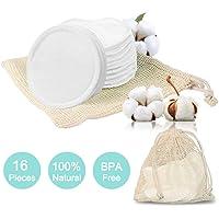 16 Waschbare Abschminkpads| Makeup Entferner Pads | Abschminktücher aus Bambus & Baumwolle mit Wäschebeutel | Umweltfreundlich | Wattepads wiederverwendbar | Gesichtsreinigung | Zero Waste