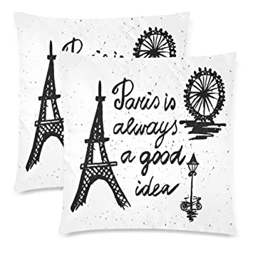 Amazoncom Xicoltd 2 Pack Paris Is Always A Good Idea Pillowcase