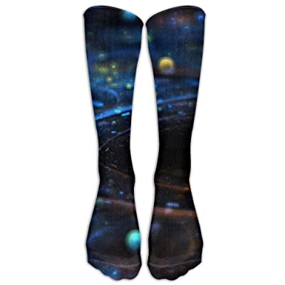 High Boots Crew Outer Space Fantasy Compression Socks Comfortable Long Dress For Men Women
