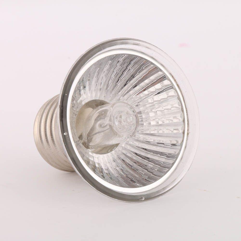 40/Watt UVB hankyky Bombilla calefactora Daylight Basking Foco 220/V E27/Poussin Tortuga Pet Glass l/ámparas Ambiente con UVA Reptiles y Anfibios