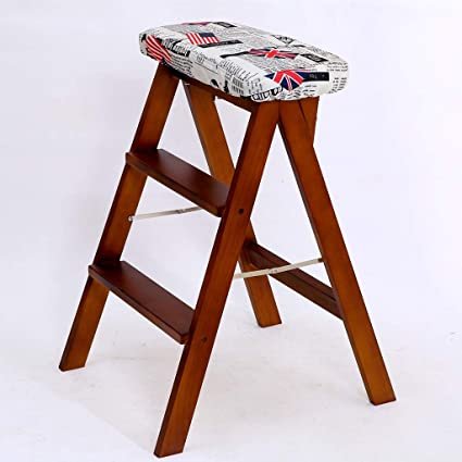 Incredible Amazon Com Wood Step Stool Folding Ladder Chair Bench Seat Creativecarmelina Interior Chair Design Creativecarmelinacom