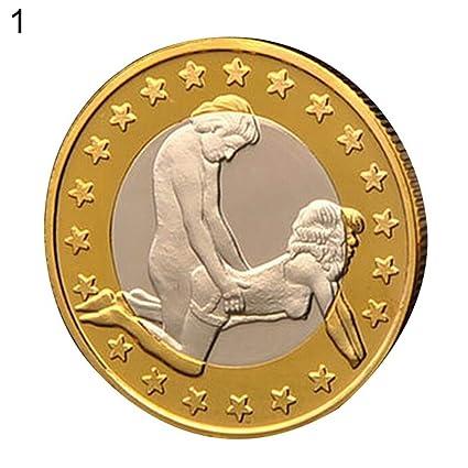 8ea53bc1e3 Derkoly novità Rotonda Placcato Oro Sex Euro Monete da Collezione Couple  Gift Commemorative - 1 # 1#: Amazon.it: Casa e cucina