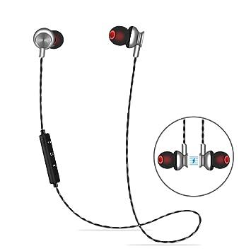 ALWUP Auriculares Bluetooth, Auriculares Deportivos Inalámbricos con Tapones para Oídos Seguros Magnéticos Mic para Correr, Ciclismo, Gimnasio, ...